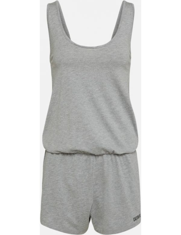 CALVIN KLEIN SCOOP BACK ROMPER grey