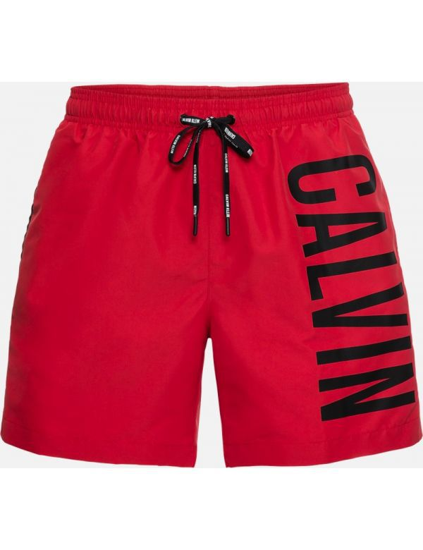 CALVIN KLEIN MEDIUM DRAWSTRING ZWEMSHORT red