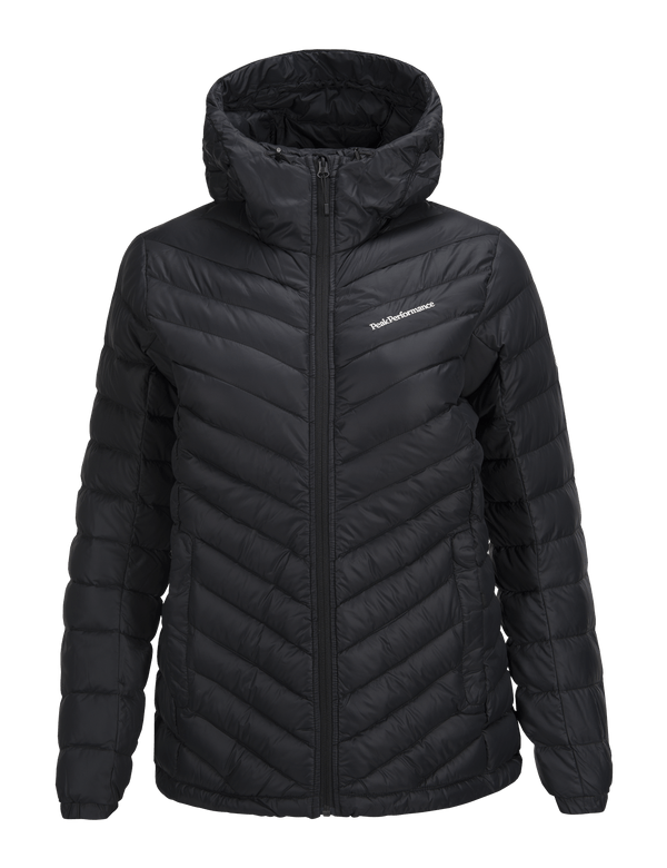 PEAKPERFORMANCE WOMEN'S FROST DOWN HOODED JACKET BLACK