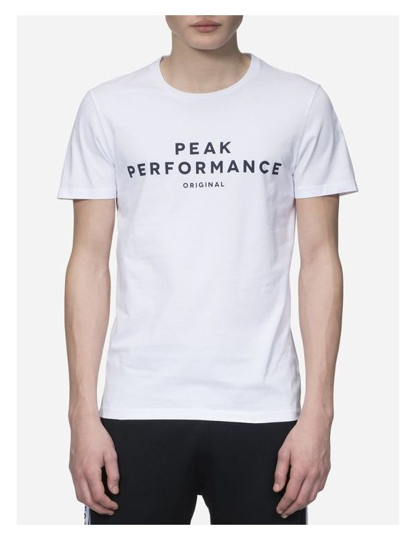 PEAKPERFORMANCE LOGO II SHORT SLEEVE white