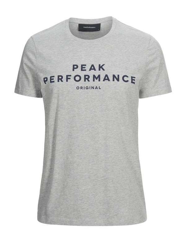 PEAKPERFORMANCE LOGO ll T-SHIRT med grey melange