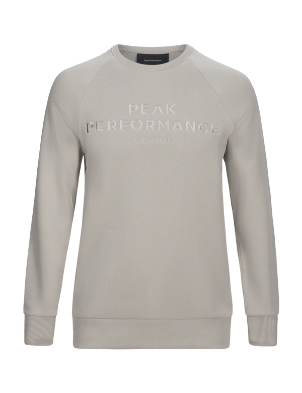 PEAKPERFORMANCE MEN'S LOGO COTTON BLEND SWEATSHIRT mortar grey