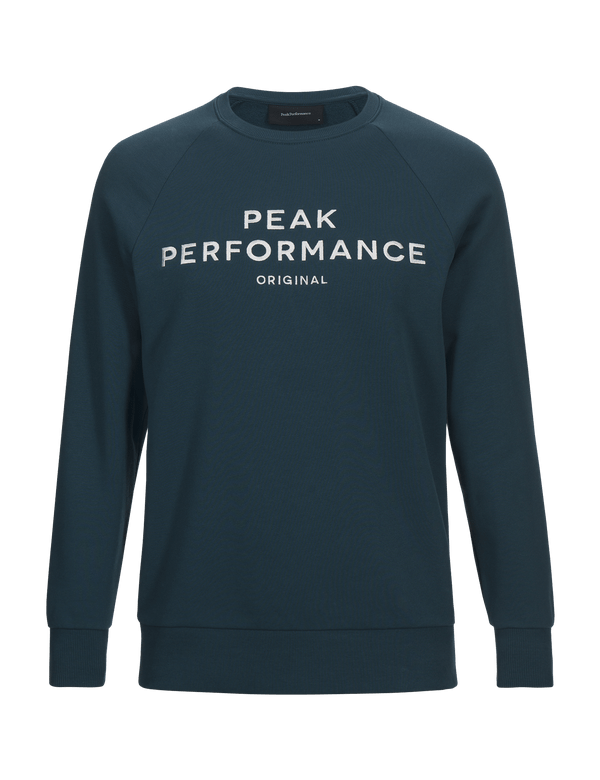PEAKPERFORMANCE MEN'S LOGO COTTON BLEND SWEATSHIRT teal extreme