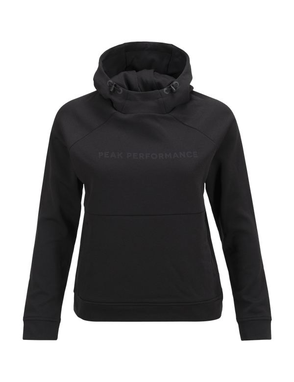PEAKPERFORMANCE WOMEN'S PULSE HOODED MID-LAYER BLACK