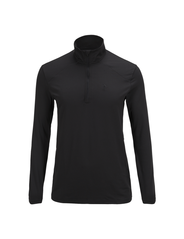 PEAKPERFORMANCE MEN'S GRAPH HALF ZIPPED BASE-LAYER BLACK