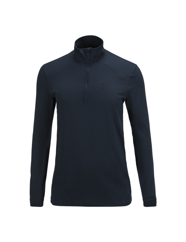 PEAKPERFORMANCE MEN'S GRAPH HALF ZIPPED BASE-LAYER SALUTE BLUE