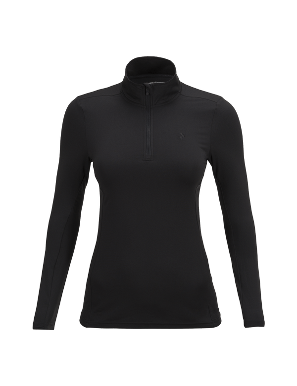 PEAKPERFORMANCE WOMEN'S GRAPH HALF ZIPPED BASE-LAYER BLACK