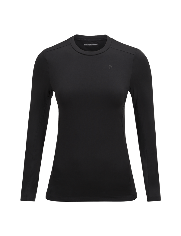 PEAKPERFORMANCE WOMEN'S GRAPH CREW NECK BASE LAYER BLACK