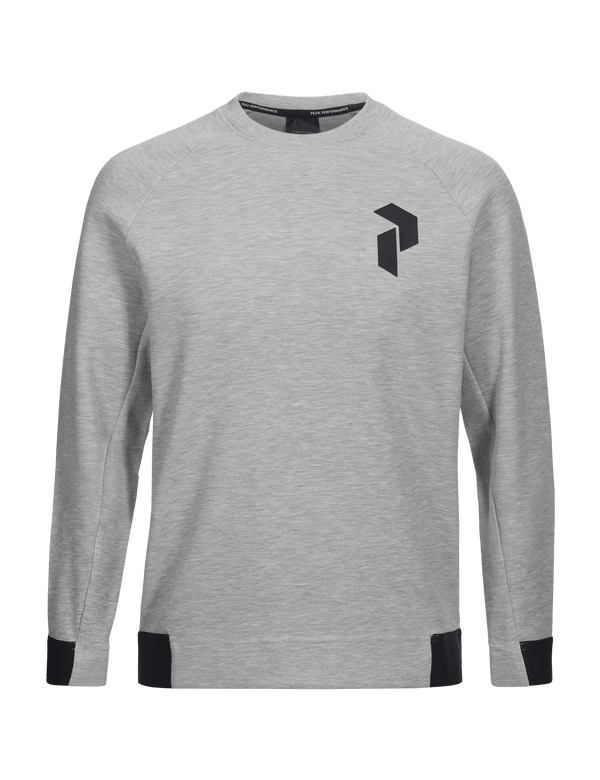 PEAKPERFORMANCE MEN'S TECH CREW NECK med grey melange