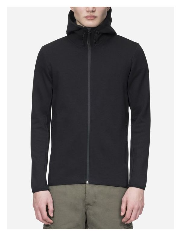 PEAKPERFORMANCE MEN'S TECH ZIPPED HOODED SWEATER black