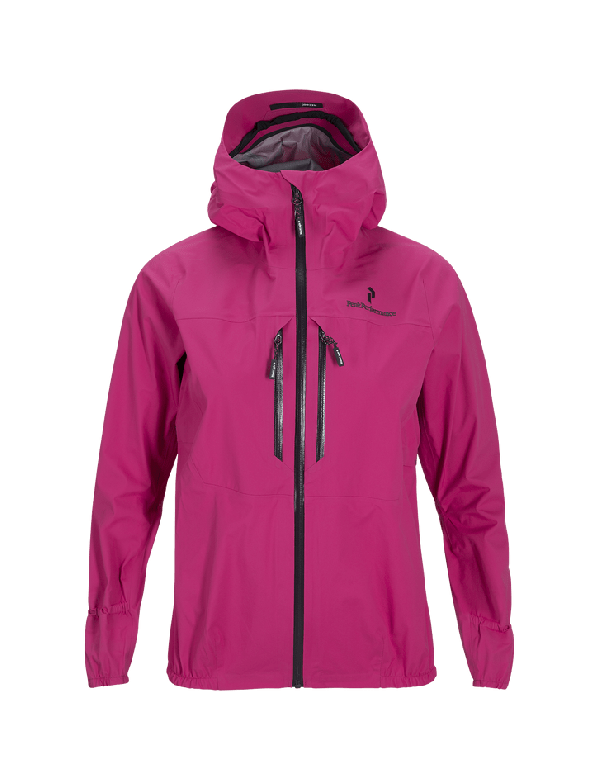 PEAKPERFORMANCE WOMAN'S BLACK LIGHT 3 LAYER ACTIVE JACKET