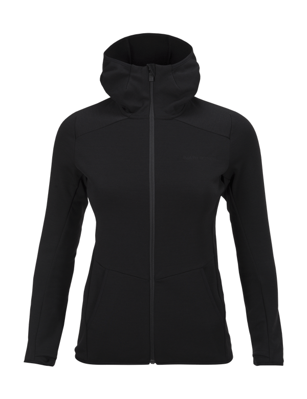 PEAKPERFORMANCE WOMEN'S HELO HOODED MID JACKET BLACK
