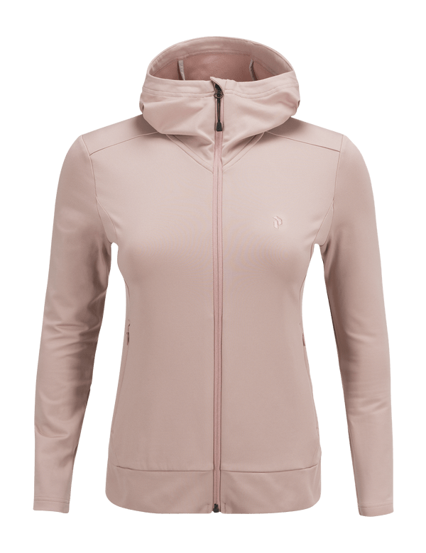 PEAKPERFORMANCE WOMEN'S ACE ZIPPED HOODED MID-LAYER DUSTY ROSES