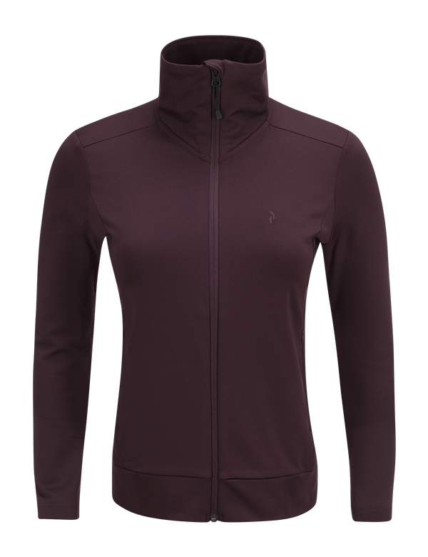 PEAKPERFORMANCE WOMEN'S ACE ZIPPED MID-LAYER MAHOGANY
