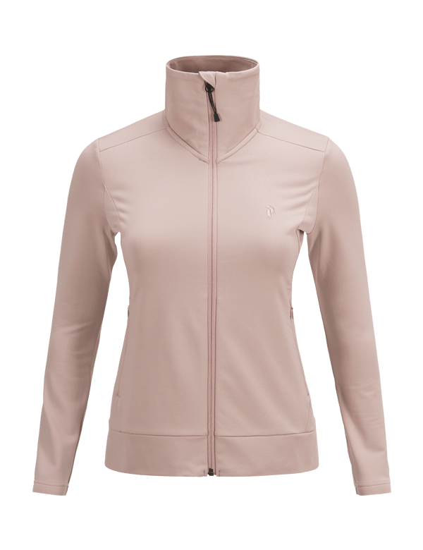 PEAKPERFORMANCE WOMEN'S ACE ZIPPED MID-LAYER DUSTY ROSES