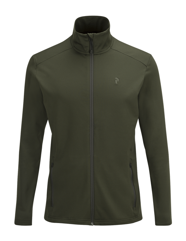 PEAKPERFORMANCE MEN'S ACE MID-LAYER FOREST NIGHT