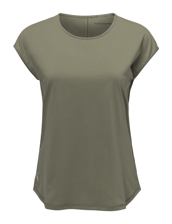 PEAKPERFORMANCE WOMEN'S EPIC CAP RUNNING TOP Leaflet Green
