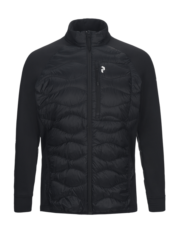 PEAK PERFORMANCE MEN'S DOWN HELIUM HYBRID JACKET black