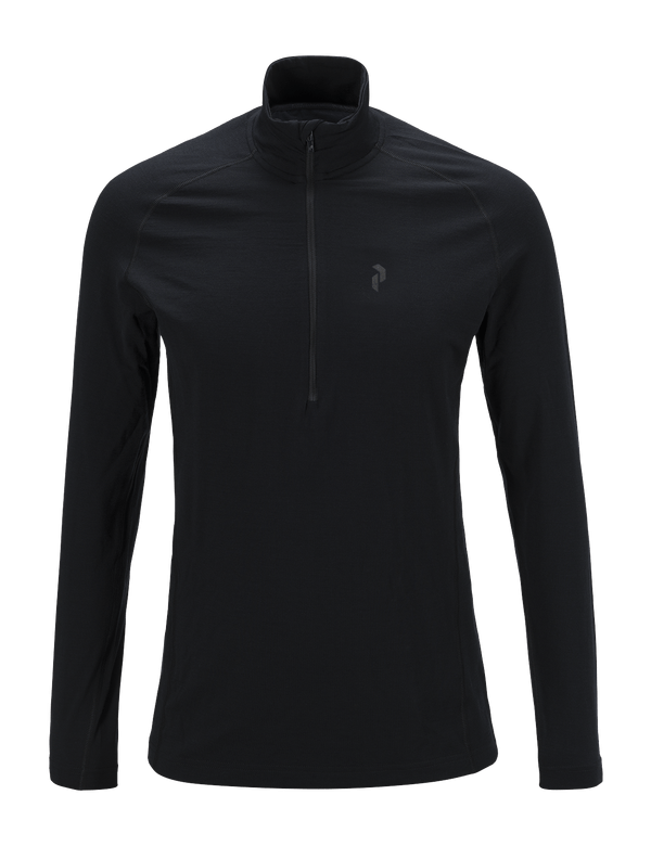 PEAKPERFORMANCE MEN'S MULTI HALF ZIPPED BASE-LAYER BLACK