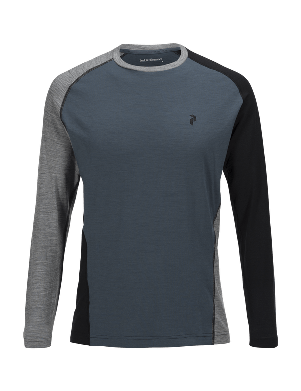 PEAKPERFORMANCE MEN'S MULTI LONG SLEEVED BASE-LAYER BLUE STEEL