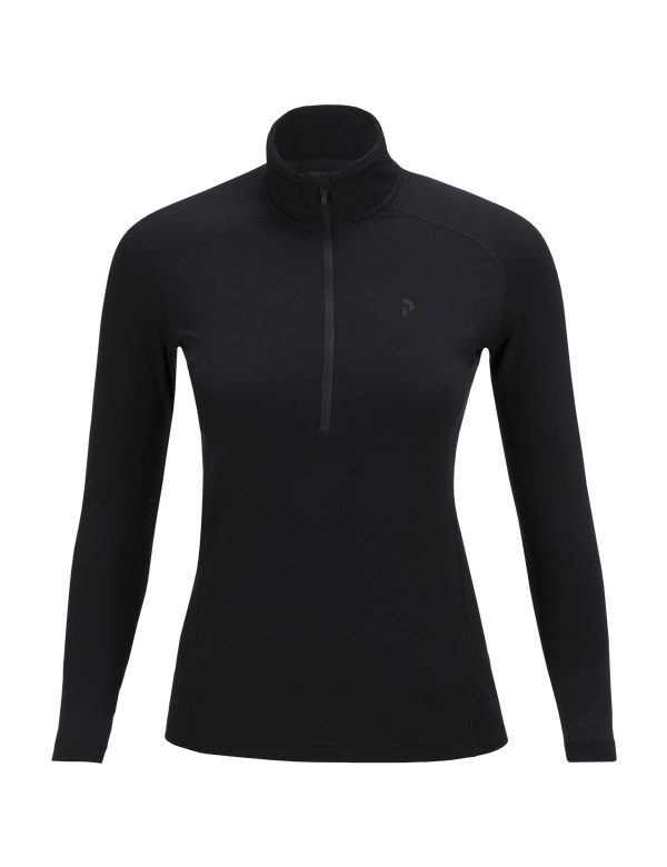 PEAKPERFORMANCE WOMEN'S MULTI ZIPPED BASE-LAYER BLACK