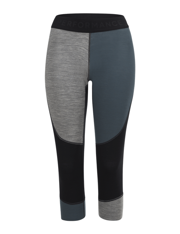 PEAKPERFORMANCE WOMEN'S MULTI BASELAYER SHORT TIGHTS BLUE STEEL
