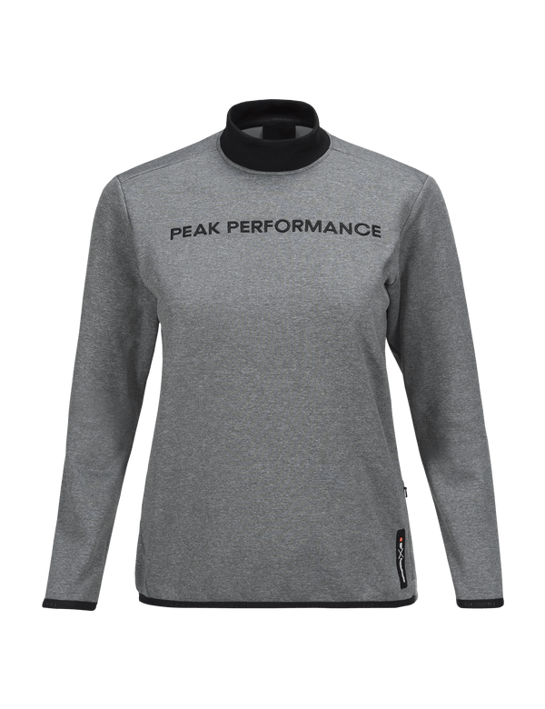 PEAKPERFORMANCE WOMEN'S GOLDECK CREW NECK GREY MELANGE
