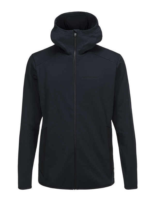 PEAKPERFORMANCE MEN'S GOLDECK HOODED ZIPPED MID-LAYER SALUTE BLUE