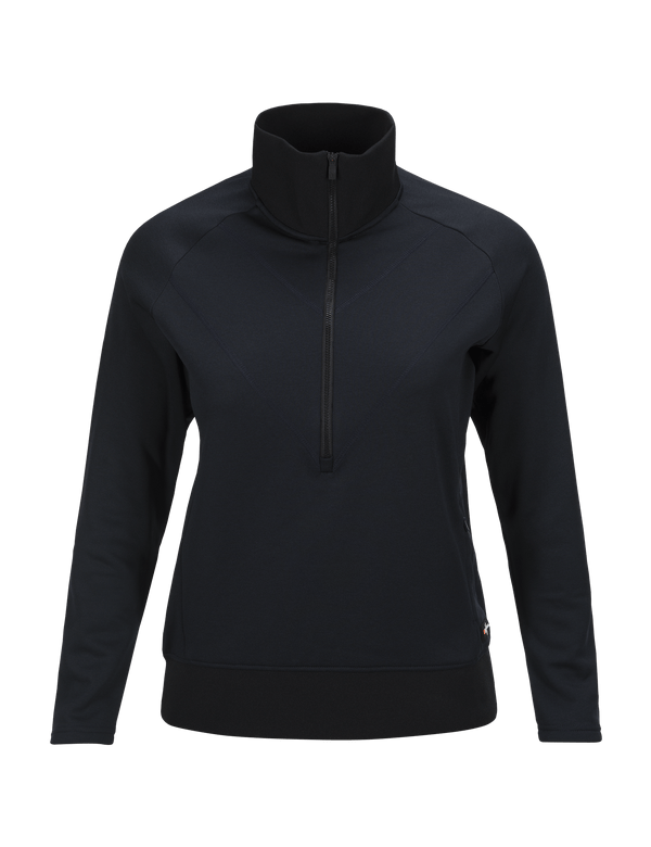 PEAKPERFORMANCE WOMEN'S GOLDECK HALF ZIPPED TOP SALUTE BLUE