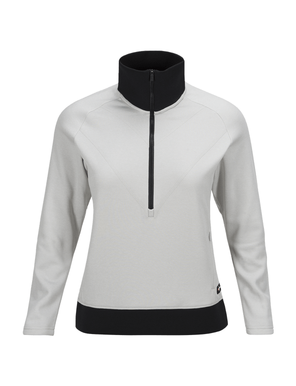 PEAKPERFORMANCE WOMEN'S GOLDECK HALF ZIPPED TOP DK OFFWHITE