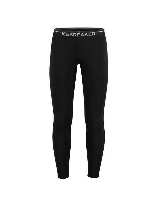 ICEBREAKER MEN'S OASIS LEGGINGS BLACK