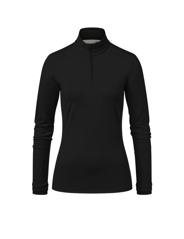 KJUS WOMEN FEEL HALFZIP black melange