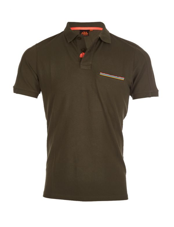 SUNDEK ETIENNE HEREN POLO dark army green