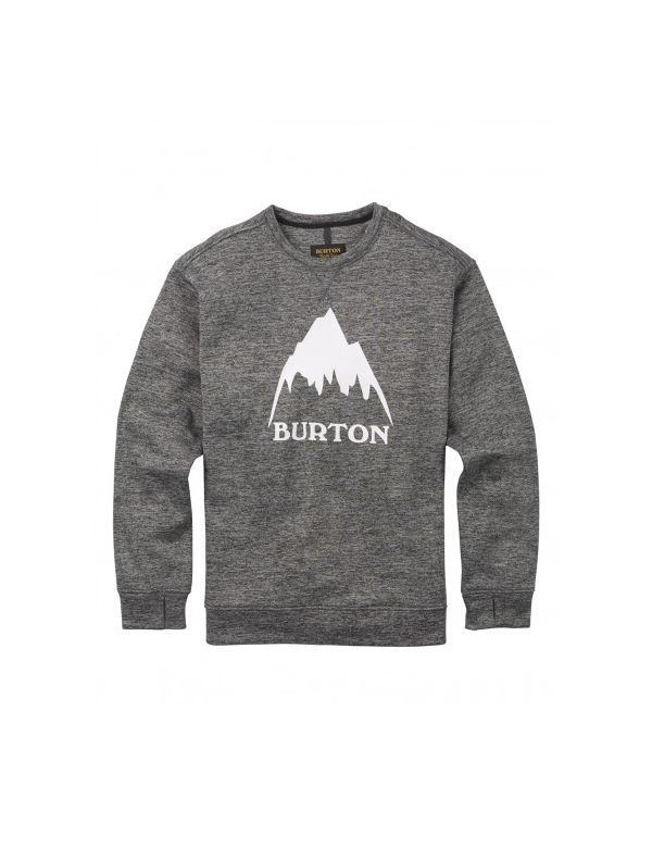 BURTON OAK CREW black heather