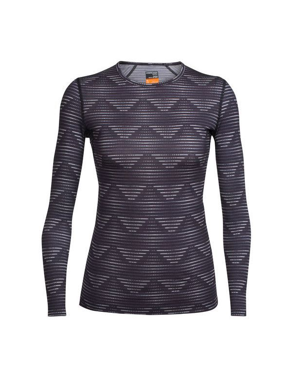 ICEBREAKER WOMEN'S OASIS LONG SLEEVE CREWE DIAMOND LINE