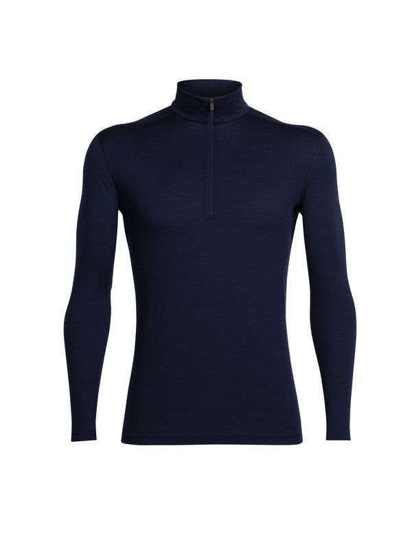 ICEBREAKER MEN'S OASIS LONG SLEEVE HALF ZIP MIDNIGHT NAVY