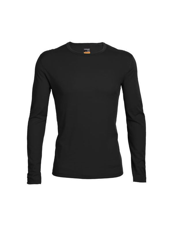 ICEBREAKER MEN'S OASIS LONG SLEEVE CREWE BLACK