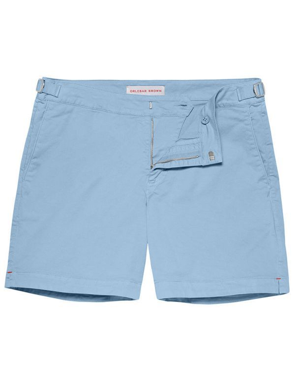 ORLEBAR BROWN BULLDOG COTTON TWIL POWDER BLUE