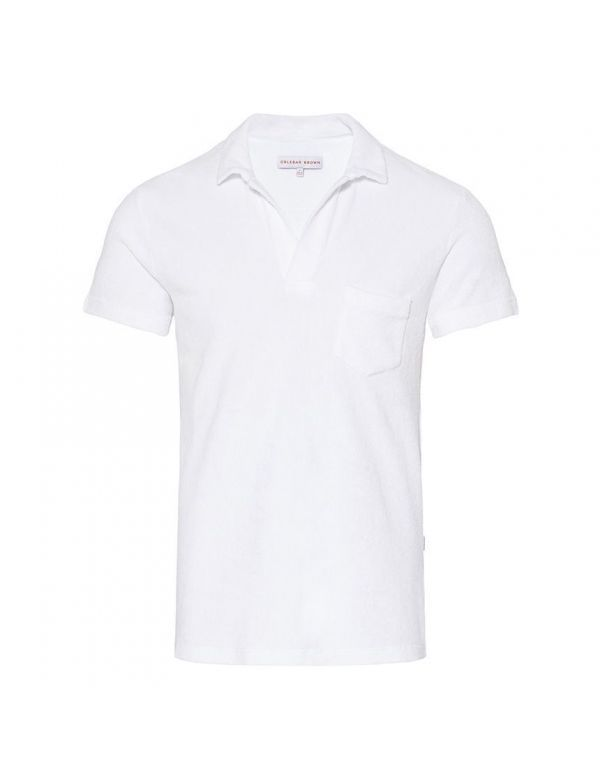 ORLEBAR BROWN TERRY POLO WHITE