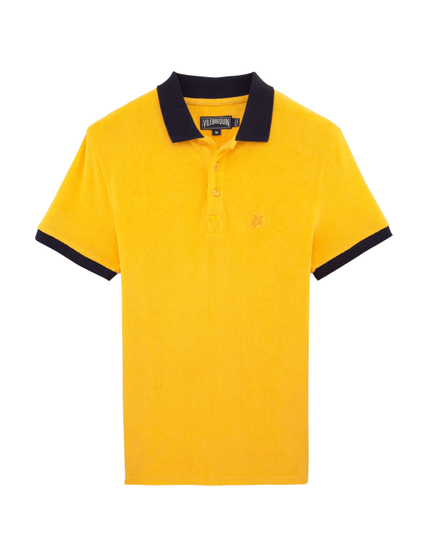 VILEBREQUIN TERRY POLO TURMERIC