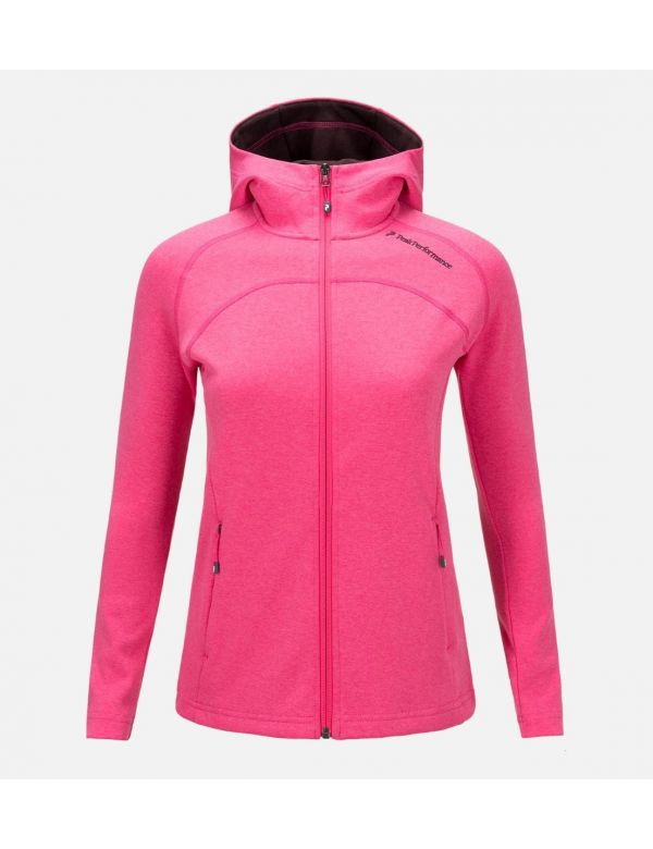 PEAKPERFORMANCE WOMEN'S KATE ZIPPED HOOD MID-LAYER
