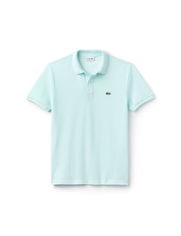 LACOSTE SHORT SLEEVE SLIM FIT POLO bleu givre