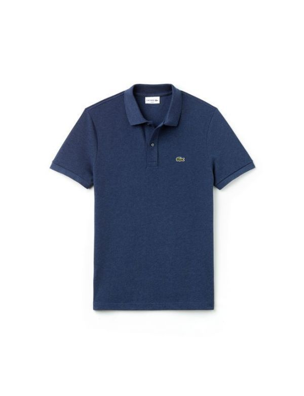 LACOSTE SHORT SLEEVE SLIM FIT PIQUE POLO NOCTURNE CHINE