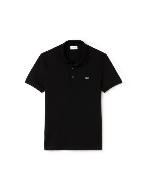 LACOSTE SHORT SLEEVE STRETCH SLIM FIT POLO zwart