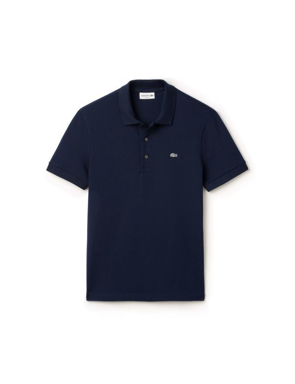 LACOSTE SHORT SLEEVE STRETCH SLIM FIT POLO marine