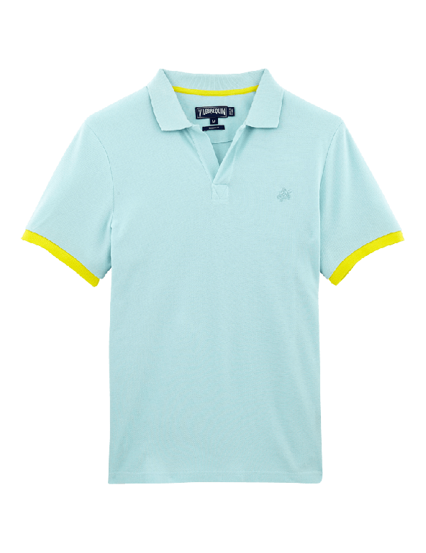 VILEBREQUIN MEN COTTON PIQUE POLO PALATIN