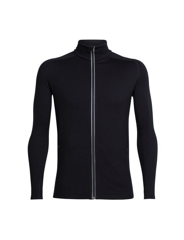 ICEBREAKER MEN'S QUANTUM LONG SLEEVE ZIP BLACK