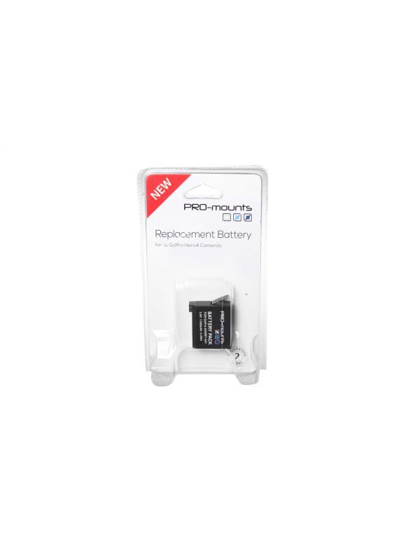 PRO MOUNTS Battery voor GoPro Hero4