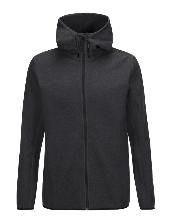 PEAKPERFORMANCE MEN'S TECH ZIPPED HOODED SWEATER DK GREY MEL
