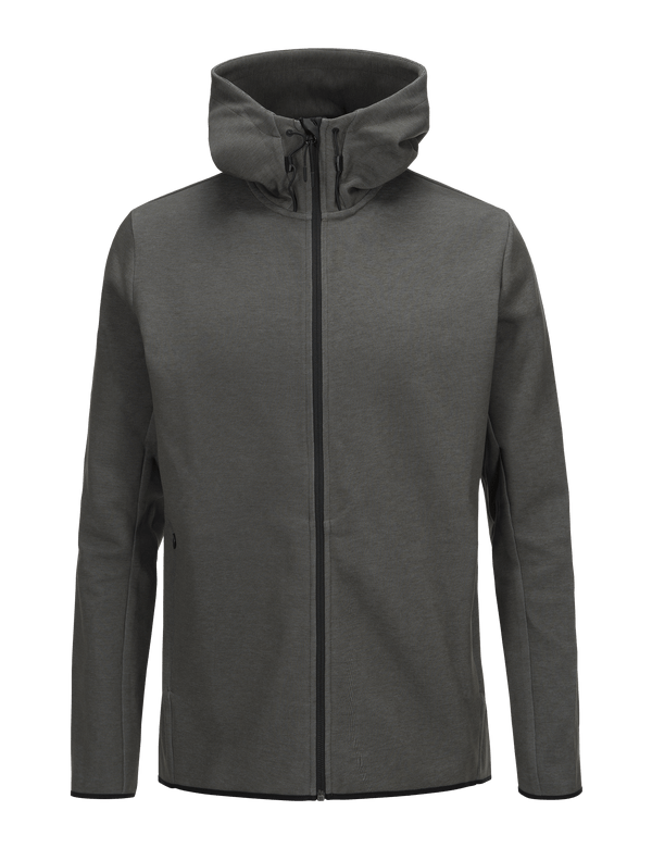 PEAKPERFORMANCE MEN'S TECH ZIPPED HOODED SWEATER OLIVE EXTREME